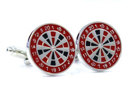 Srebrno-czerwone spinki - dart U60