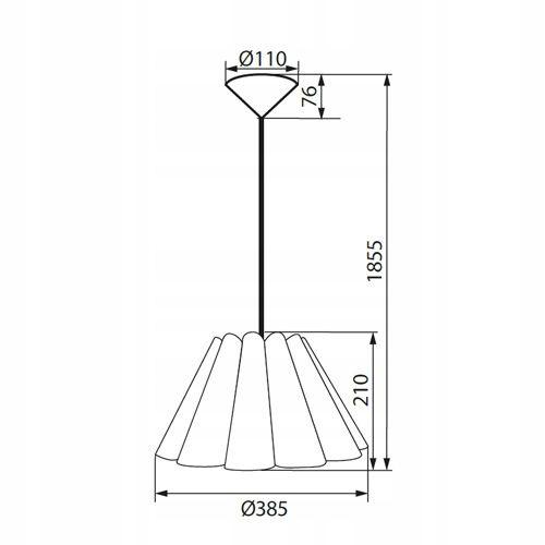Lampa sufitowa BIAŁA żyrandol nowoczesny KANLUX abażur wisząca E27 LED zdjęcie 3