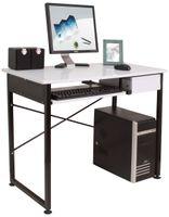 Biurko laptop komputer nowoczesne biel C-1156