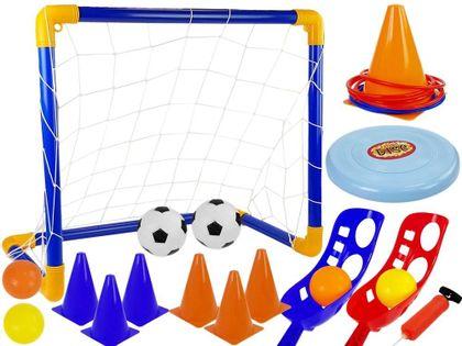 Zestaw Gier Sportowych Zręcznościowe Piłka Nożna Bramka Frisbee