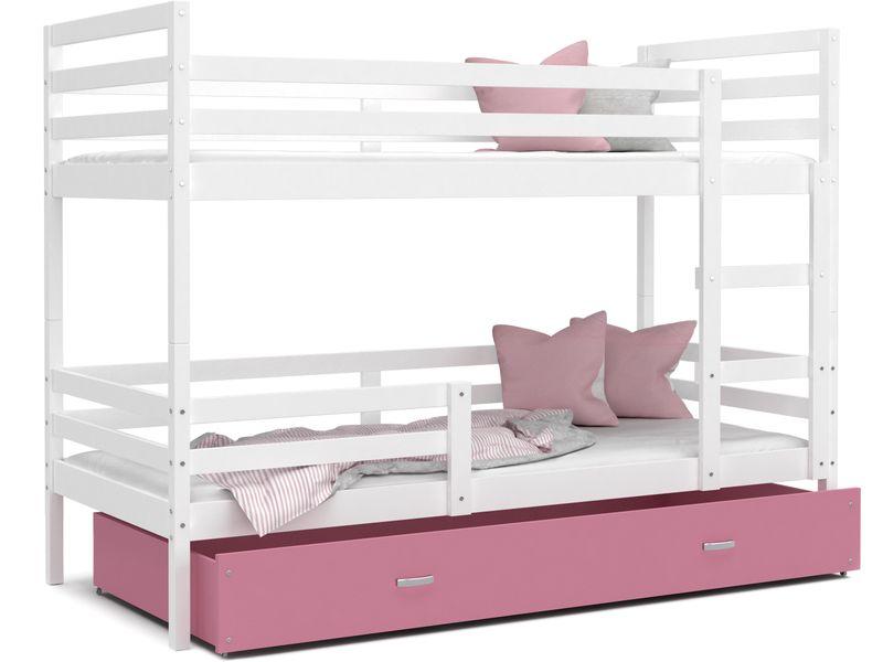 Łóżko piętrowe JACEK COLOR  190x80  szuflada + materace zdjęcie 4
