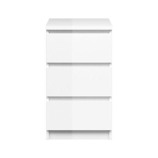 Komoda wąska 3S Naia biała wysoki połysk zdjęcie 3