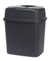 Kosz uchylny WILLOW 10 l na śmieci odpadki grafit szary ciemny sweterkowy wzór