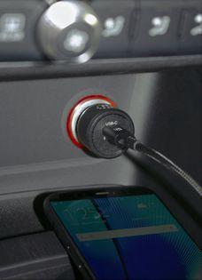 Samochodowa Ładowarka Manhattan USB-C Power Delivery 5-12V 3A max.18W