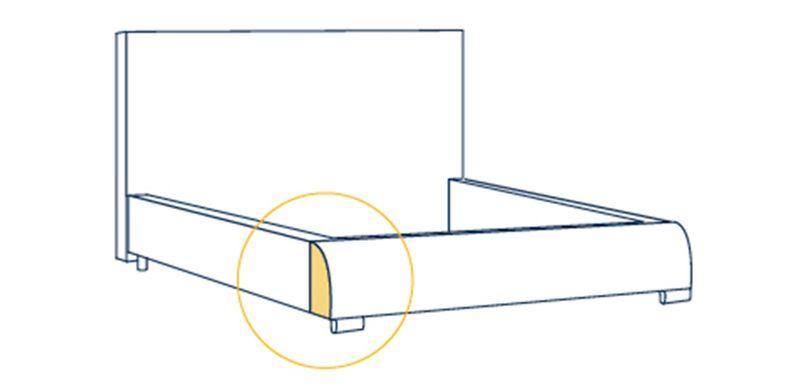 Łóżko Tapicerowane VICKI 160x200+ Stelaż zdjęcie 9