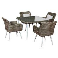 Bello Giardino - meble stołowe z technorattanu stół 4 krzesła