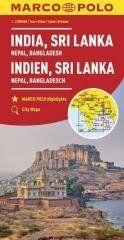 Mapy kontynentalne Indie...1:2,5mil. MARCO POLO praca zbiorowa