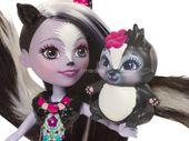 Enchantimals Sage Skunk Lalka + zwierzaczek skunks Mattel DYC75 DVH87 zdjęcie 3