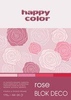 Blok techniczny kolorowy Deco różowy A4 Happy Color