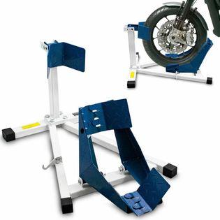 17066 Stojak na przednie koło do motoru 17-20 cali nowy niebieski