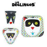 Les Deglingos 3 częściowy zestaw z melaminy Kot Charlos