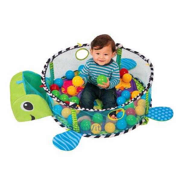 Duża Mata Edukacyjna Żółwik 3w1 Kojec z piłeczkami zdjęcie 7