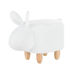 Pufa Tapicerowana Biała Bunny