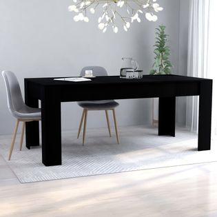 Stół jadalniany, czarny, 180x90x76 cm, płyta wiórowa