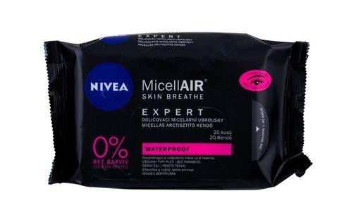Nivea MicellAIR Expert Waterproof Chusteczki oczyszczające 20szt