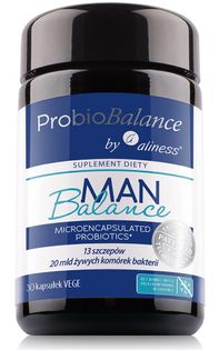 ProbioBALANCE, Man Balance 20 mld. x 30 vege caps Aliness