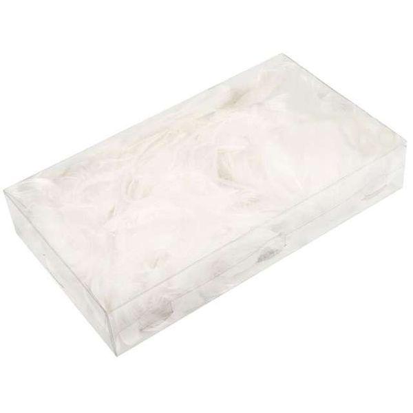Piórka Dekoracyjne W Pudełku 200 Szt Białe