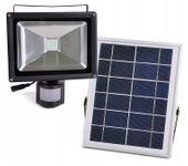 Halogen LED Lampa Panel Solarna Solar Czujka Ruchu