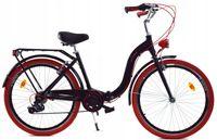 """Rower Dallas Składak Alu 26"""" 7spd - czarny z czerwonym"""