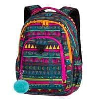 Dwukomorowy plecak szkolny CoolPack Strike 26L, Mexican Trip A209