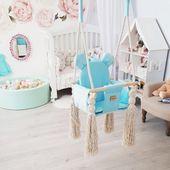 Huśtawka dla dzieci VelvetSwing – Baby Blue zdjęcie 4