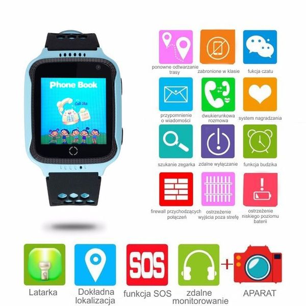 smartwatch q528 zegarek dzieci gps instrukcja