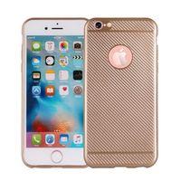 Etui Carbon Fiber iPhone 8 złoty /gold