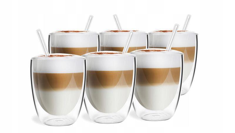Szklanki Termiczne Podwójna Ścianka Kawa Herbata 320ml Vialli Design 6 zdjęcie 5