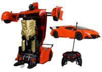 Transformer auto robot sterowany pilotem / ręką USB POMARAŃCZOWY Z181P