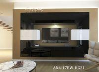 Stylowe meble MONACO N4 do salonu szafki RTV Połysk oświetlenie LED