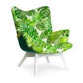 Angel Uszak fotel wzory liście super cena nowość