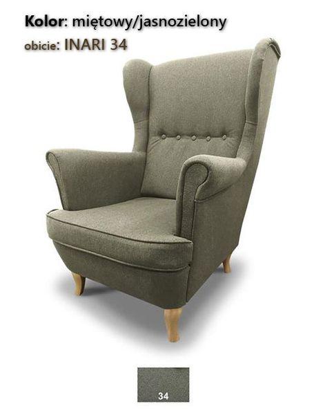 Fotel Uszak Skandynawski - stylowy design zdjęcie 5