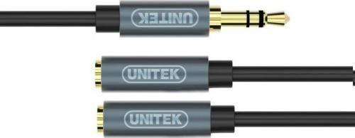 Kabel miniJack 3,5mm (M) - 2x 3,5mm ( F)