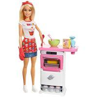 Barbie - Domowe wypieki, zestaw z lalką i akcesoria kuchenne FHP57