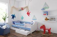 Łóżko LILI 180 x 80 + DWIE SZUFLADY + MATERAC PIANKOWY GRATIS