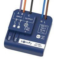 Odbiornik WŁ/WYŁ SOMFY IZYMO io umożliwia dodanie do oświetlenia lub sprzętu domowego protokołu i zdalne sterowanie