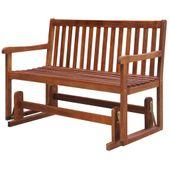 Bujana ławka ogrodowa, lite drewno akacjowe, 125 x 62 x 93 cm