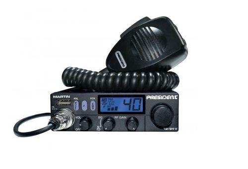 PRESIDENT Martin 12/24V Radio CB USB zmienny kolor FV23% GWARANCJA PL na Arena.pl