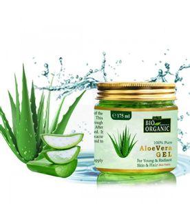 Żel aloesowy Aloe Vera, bio organic, do skóry i włosów, 400 ml, Indus Valley