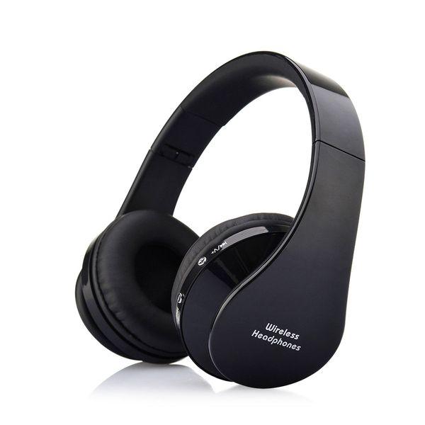 Słuchawki BEZPRZEWODOWE nauszne BLUETOOTH mikrofon CZARNE zdjęcie 1