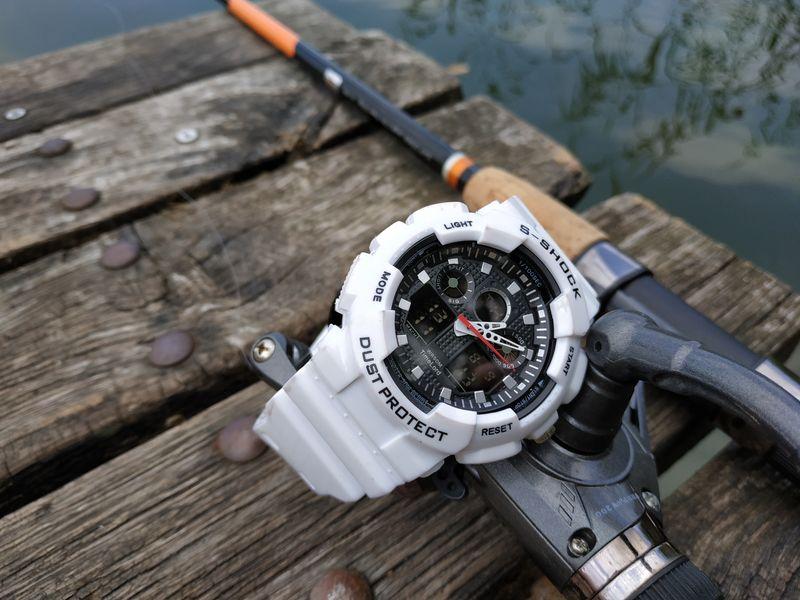 37fbe211a22b16 Męski Elektroniczny Zegarek S-SHOCK Trzy Kolory Biały Czerwony Czarny  zdjęcie 17