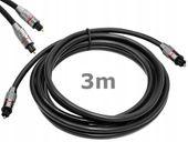 Kabel Optyczny 9-11MHz. 7.1 Digital Toslink T-T 3m