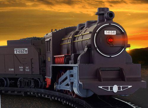 OGROMNA KOLEJKA ELEKTRYCZNA FENFA lokomotywa 7 wagonów tory 996cm Z357 na Arena.pl