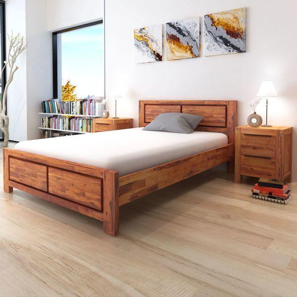 łóżko Rama łóżka Z Materacem Drewniane 180x200 Arenapl