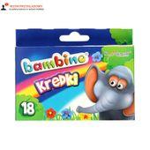 Kredki woskowe 18 kolorów pud Bambino 20080