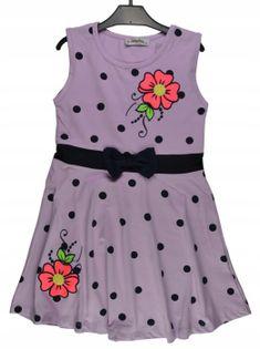 Sukienka Majka fiolet, bawełna roz.152