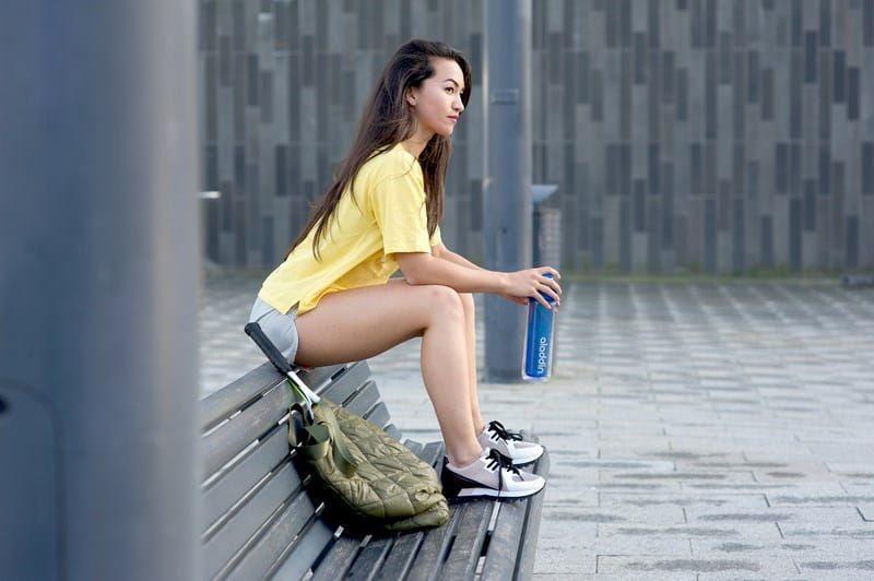 Butelka ACTIVE HYDRATION podwójna ścianka fioletowa Aladdin zdjęcie 2