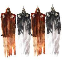 Ozdoba Na Halloween - Wiszący Duch - Zestaw 4 Szt