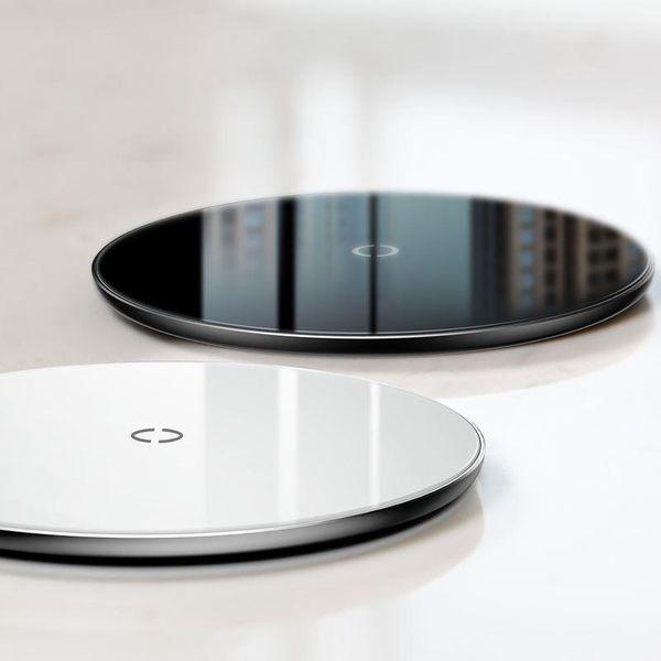 Baseus Simple - Bezprzewodowa ładowarka indukcyjna Qi do iPhone i Android 10W (biały) zdjęcie 11