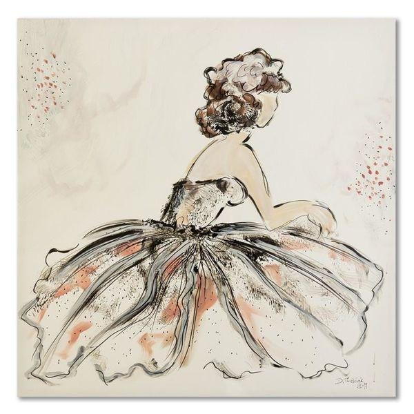 Obraz na płótnie - Canvas, Kobieta retro 60x60 zdjęcie 1